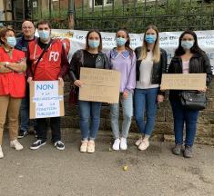 Education : les enseignants manifestent devant la DSDEN de Moselle
